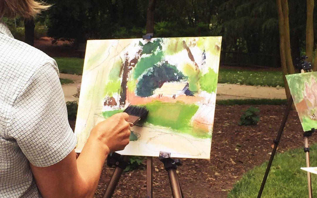 Oil Pastel Painting en Plein Air with Artist Mavis Liggett
