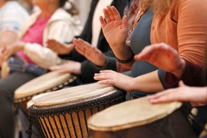 Drumming Circle w/ Betsy Bevan @ Hirsch Center at Revolution Mill | Greensboro | North Carolina | United States