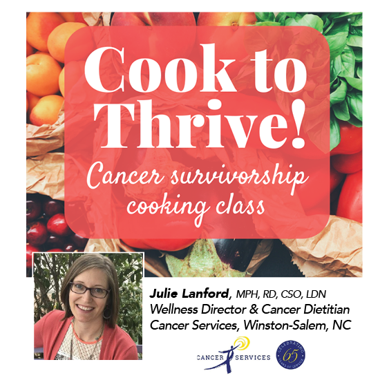 "Online Cooking to Thrive ""Stock the Freezer"" with Cancer Dietitian Julie Lanford"