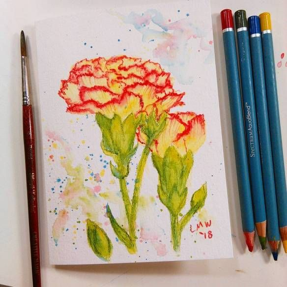 Creating with Watercolor Pencils Online with Mavis Liggett series 4 of 4