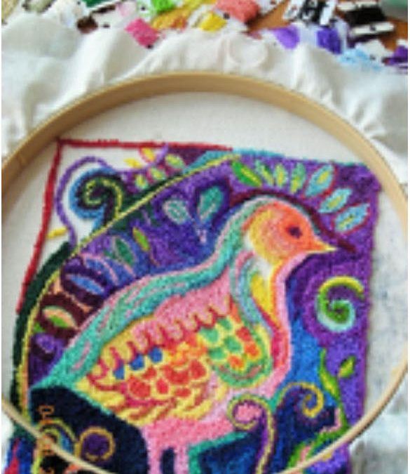 Punch Needle Tapestry Design with Jacqui Mehring, Part 4