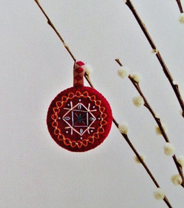 Folk Embroidery Holiday Decorations with Textile Designer Jacqui Mehring
