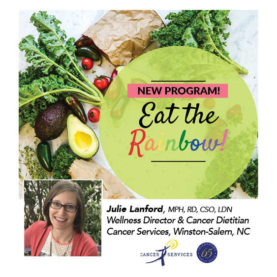 Eat the Rainbow ~ Fruit & Veggie Challenge with Cancer Dietitian Julie Lanford